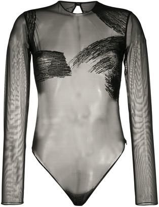 Gianfranco Ferré Pre-Owned 1990s Sheer Long-Sleeved Bodysuit