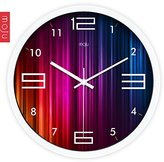 Jedfild Wall Clock Mute Modern Simple European Style Creative Metal Black Paint for Living Room Bedroom 14 inch