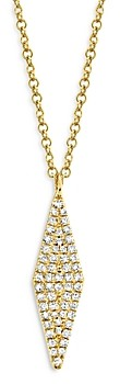 Moon & Meadow 14K Yellow Gold Diamond Geometric Pendant Necklace, 18 - 100% Exclusive