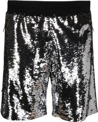 Golden Goose Silver-tone Cotton Shorts