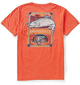 Fripp & Folly Men's Trout Fishing Short-Sleeve Graphic Pocket Tee