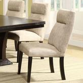 HomeSullivan Powell Linen-Like Chenille Dining Chair in Beige (Set of 2)
