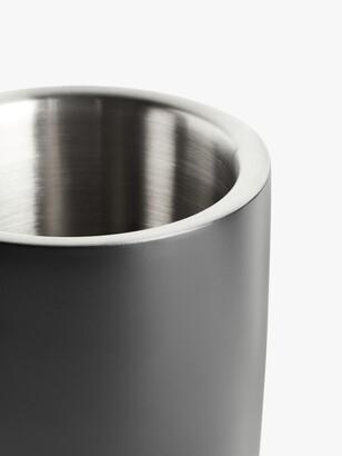 John Lewis & Partners Stainless Steel Wine Cooler, Matt Black