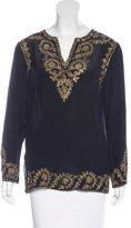 Adrienne Landau Silk Embellished Tunic