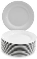 10 Strawberry Street White Salad Plates (Set of 12)
