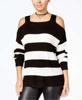 HOOKED UP BY IOT Hooked Up By It's Our Time Juniors' Cold-Shoulder Sweater