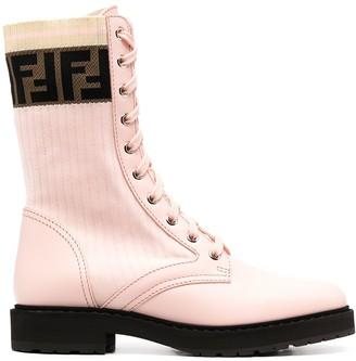 Fendi Rockoko combat boots