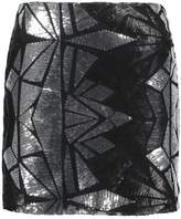 Noisy May NMGLAM SEQUENS Mini skirt silver/black
