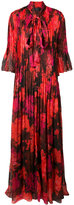 Rochas pleated floral dress