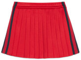 Gucci Pleated Tech Jersey Skirt, Red/Blue, Size 4-12