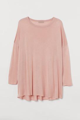 H&M H&M+ Wide-cut Sweater - Pink