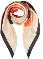 Givenchy Women's Pink Silk Scarf.