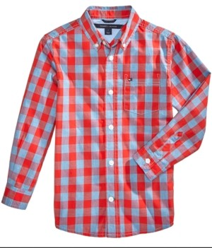 Tommy Hilfiger Little Boys Box-Plaid Cotton Shirt