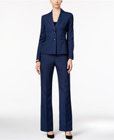 Le Suit Two-Button Mélange Pantsuit