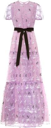 Erdem Triin floral-embroidered organza gown