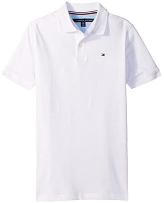 Tommy Hilfiger Stretch Ivy Polo (Big Kids) (White) Boy's Clothing
