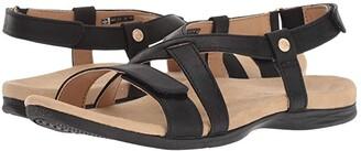 Spenco Cross Strap (Black) Women's Shoes