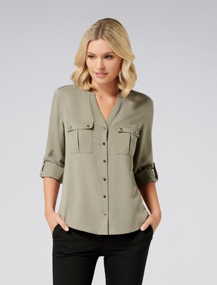 Forever New Perry Utility Shirt - Sweet Clover - 4