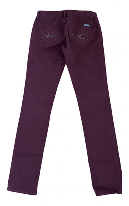 7 For All Mankind Burgundy Cotton - elasthane Jeans