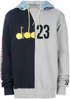 Diadora colour-block hooded sweatshirt