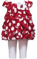 Rare Editions and White Ruffle Ladybug Capri Set 9 months