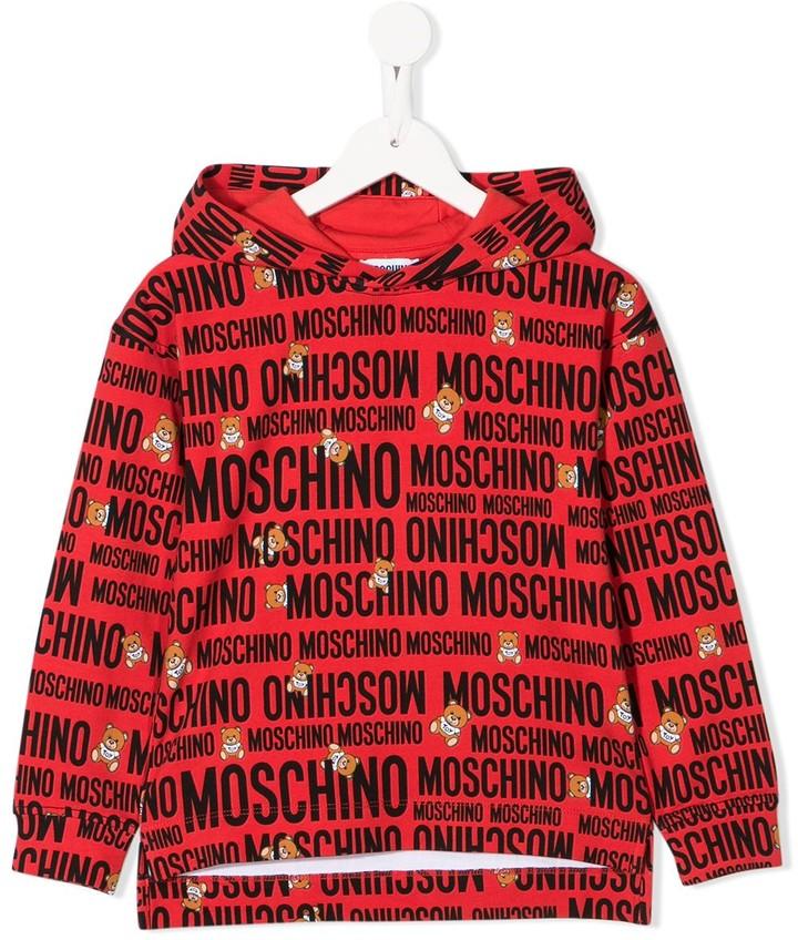 Moschino Kids all-over logo hoodie