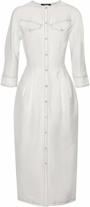 Derek Lam Pleated Linen-blend Midi Dress