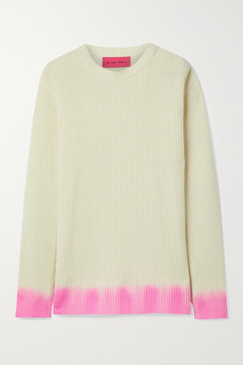 The Elder Statesman Ombre Cashmere Sweater - Ivory
