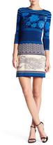 Donna Morgan 3/4 Length Sleeve Printed Shift Dress
