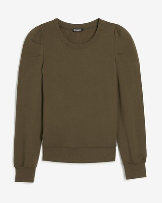 Express Pleated Puff Sleeve Sweatshirt