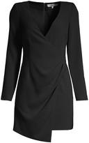 LIKELY Dani Long-Sleeve Wrap Mini Dress