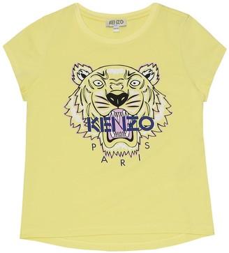 Kenzo Kids Logo cotton-blend T-shirt