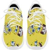 Angelinana Angelinan Custom Fashion Area Spongebob Men's Breatheable Woven Fashion Running Shoes (Model 022)