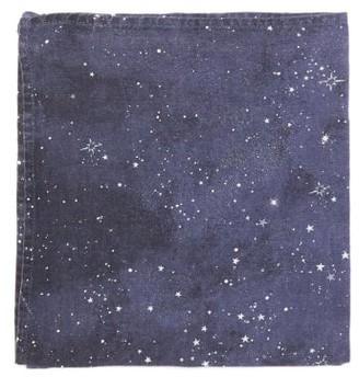 Summerill & Bishop - Set Of Four Constellation-print Linen Napkins - Navy