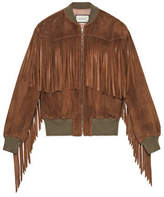 Gucci Suede bomber with fringe