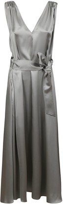 Brunello Cucinelli V-neck Belted Dress