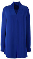Lands' End Women's Plus Size Long Sleeve Hostess Tunic-Soft Royal Marl