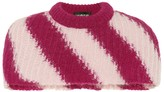 Calvin Klein Striped mohair and wool capelet