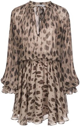 Anine Bing Elliana leopard-print silk dress