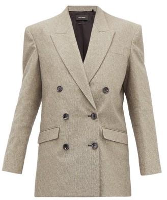 Isabel Marant Eladim Oversized Double Breasted Blazer - Womens - Grey