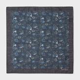 Paul Smith Men's Navy 'Logan Floral' Print Cotton Pocket Square