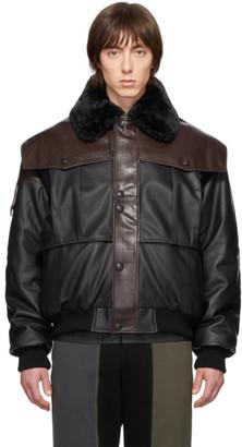 Gr Uniforma GR-Uniforma Brown Faux-Leather Bomber