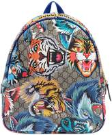 Gucci Gg & Animals Faux Leather Backpack