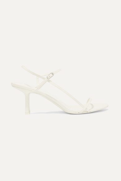 The Row Bare Leather Sandals - White