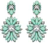 Fiorelli Fiorelli...Statement Mint Acrylic Chandelier Dangle Earrings...Silver Finish