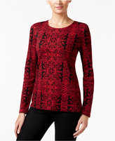 Charter Club Scroll-Print Top, Only at Macy's