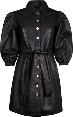 Muu Baa Muubaa Black Alba Volume Sleeve Dress