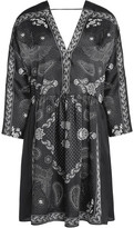 Sandro Amber Printed Satin-Twill Mini Dress