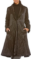 Eileen Fisher Shawl Collar Single Front Button Long Coat