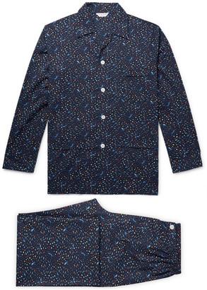 Derek Rose Ledbury Printed Cotton-Poplin Pyjama Set